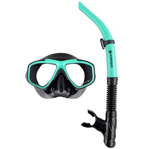 Ocean Pro Eclipse Mask Snorkel Set Teal
