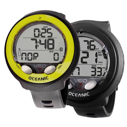 Oceanic Veo 4.0 Dive Computer Black and Yellow Spearfishing Scubadiving Freediving Commercial Diving Gear Australia Cairns Diversworld