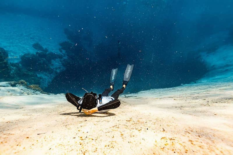 Roberto Berto on Freediving and Spearfishing Chief of Safety Divers Vertical Blue Bahamas Blue Hole