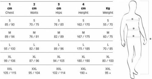 Size Chart Salvimar Wetsuits